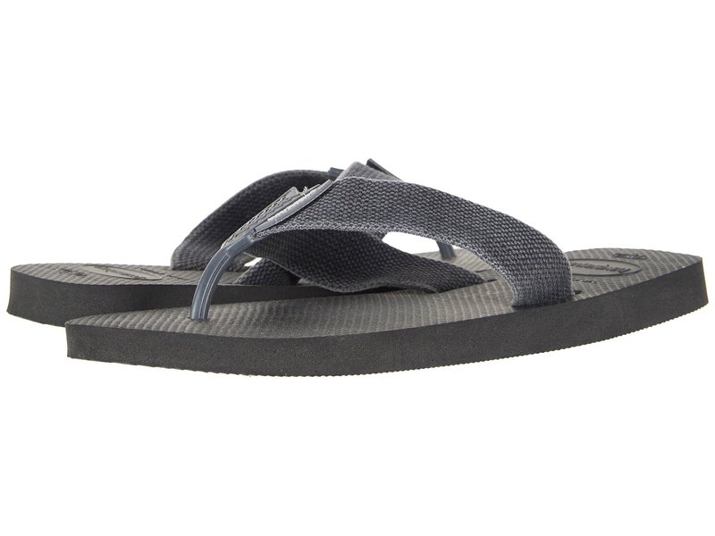 ハワイアナス メンズ サンダル シューズ Urban Basic Flip Flops Black/Grey