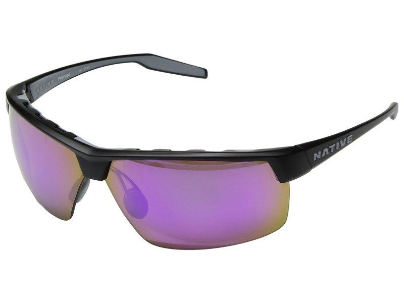 ネイティブアイウェア メンズ サングラス・アイウェア アクセサリー Hardtop Ultra XP Matte Black/Violet Reflex Polarized Lens