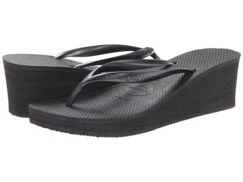 ハワイアナス レディース サンダル シューズ High Fashion Flip Flops Black