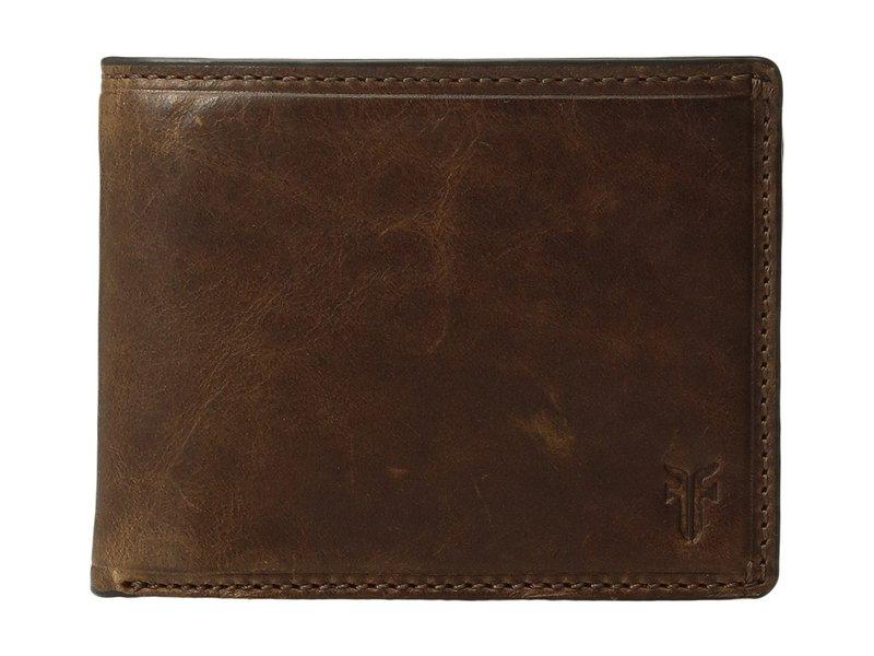 フライ メンズ 財布 アクセサリー Logan Slim ID Billfold Dark Brown Antique Pull-Up