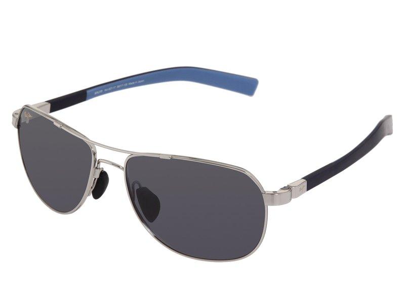 マウイジム メンズ サングラス・アイウェア アクセサリー Guardrails Silver/Blue/Neutral Grey Lens