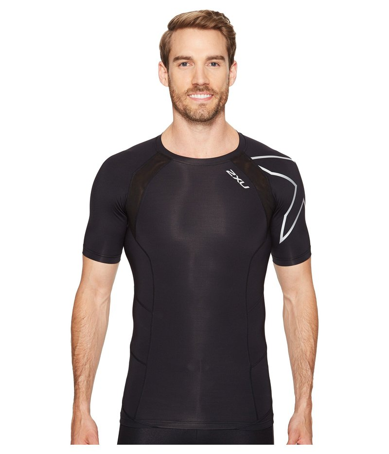 2XU メンズ シャツ トップス Compression Short Sleeve Top Black/Silver