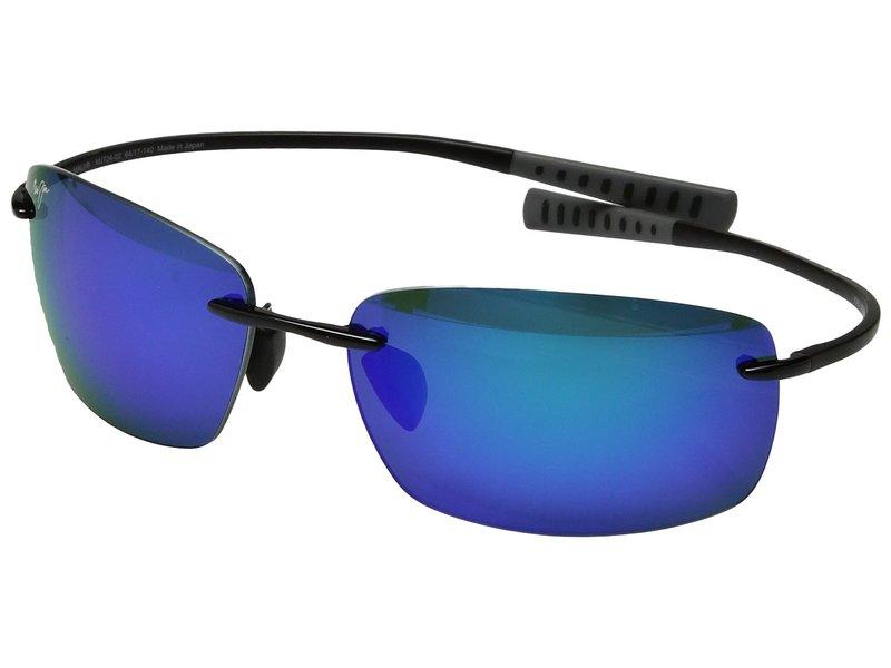 マウイジム メンズ サングラス・アイウェア アクセサリー Kumu Gloss Black/Blue Hawaii