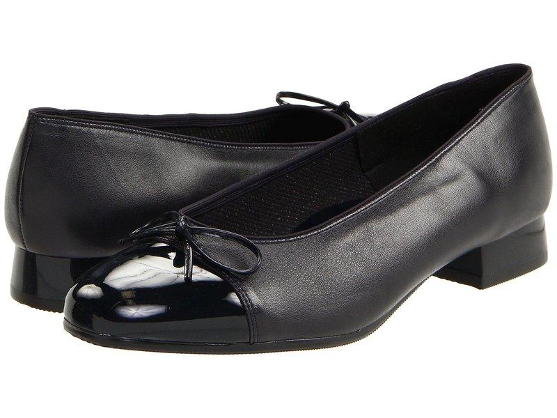 アラ レディース ヒール シューズ Bel Navy Leather w/Patent Tip