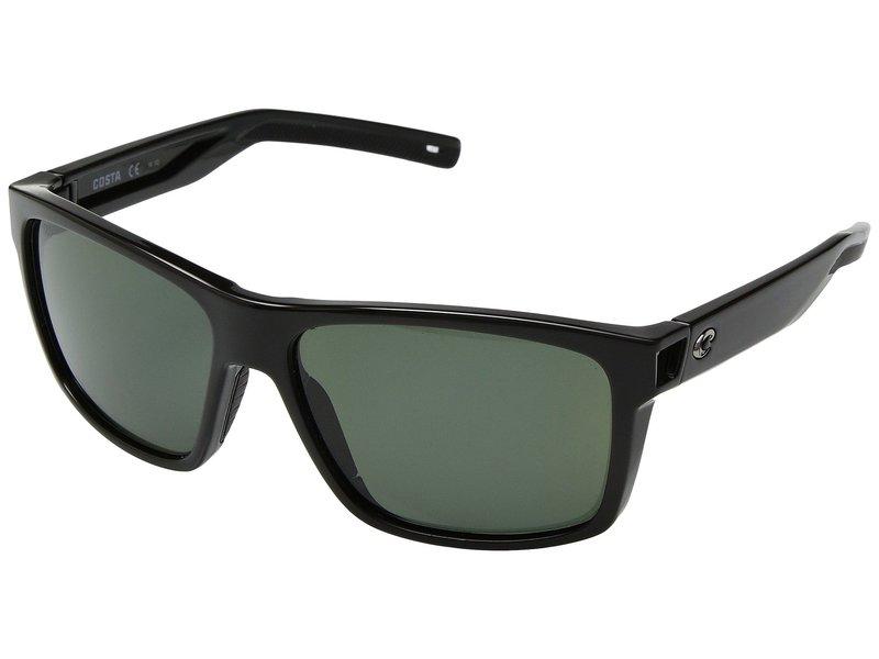 コスタ メンズ サングラス・アイウェア アクセサリー Slack Tide Shiny Black Frame/Gray 580G