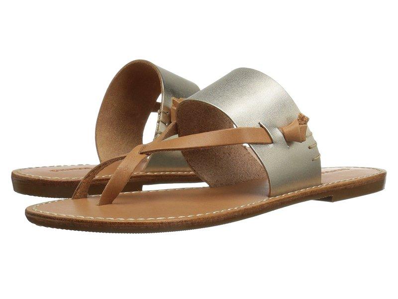 ソルドス レディース サンダル シューズ Slotted Thong Sandal Metallic Platinum