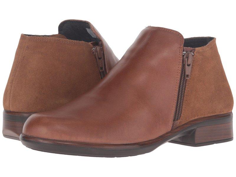 ナオト レディース ブーツ・レインブーツ シューズ Helm Maple Brown Leather/Desert Suede