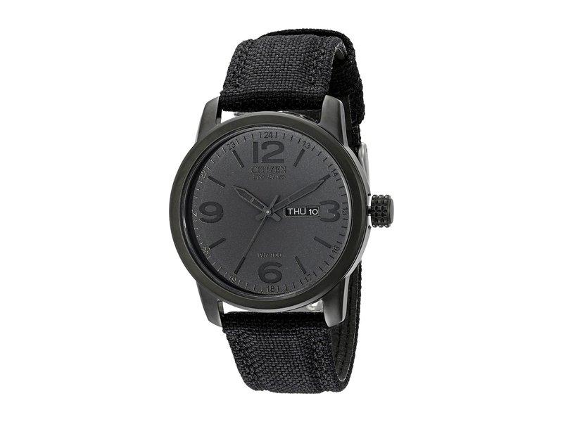 シチズンウォッチ メンズ 腕時計 アクセサリー BM8475-00F Canvas Strap Eco Drive Watch Black Ion Plated