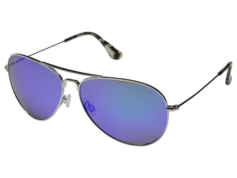 マウイジム メンズ サングラス・アイウェア アクセサリー Mavericks Silver/Blue Hawaii