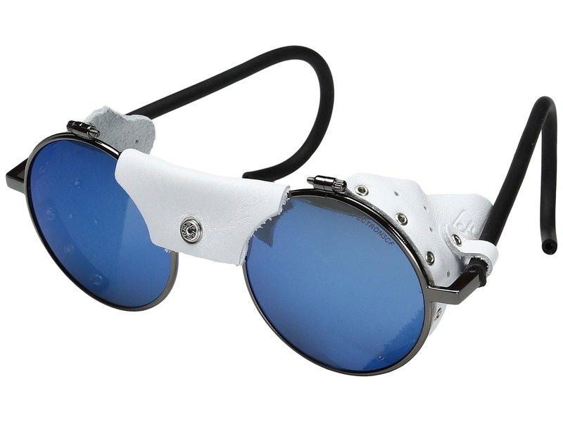 ジュルボアイウェア メンズ サングラス・アイウェア アクセサリー Vermont Classic Sunglasses Gun/White with Spectron 3 Color Flash Lens