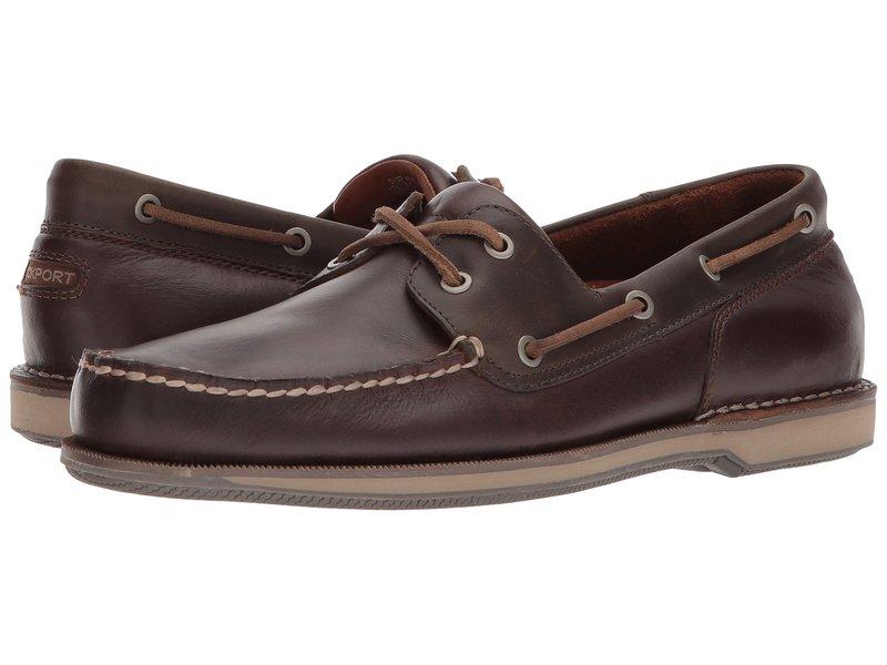 ロックポート メンズ デッキシューズ シューズ Ports of Call Perth Beeswax/Dark Brown Leather