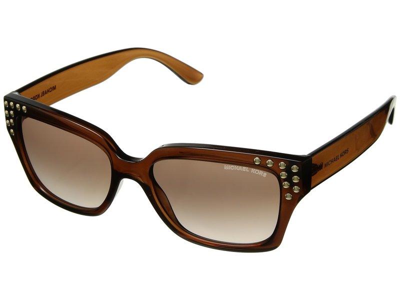 マイケルコース レディース サングラス・アイウェア アクセサリー 0MK2066 55mm Dark Brown Crystal/Brown Peach Gradient