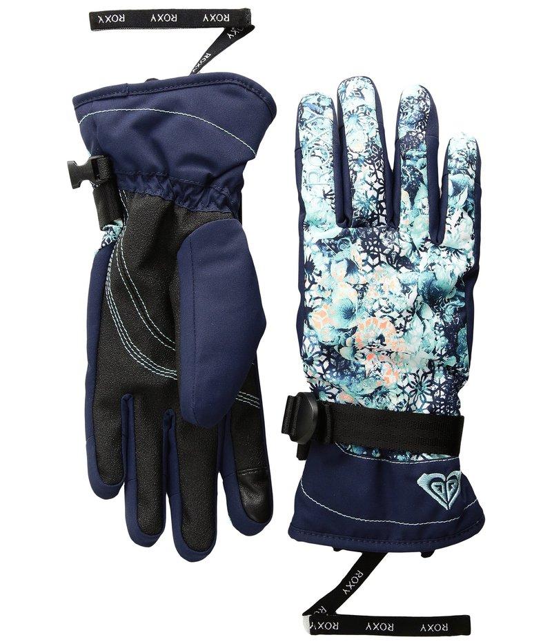 ロキシー レディース 手袋 アクセサリー Roxy Jetty Gloves Aruba Blue/Kaleidos Flowers