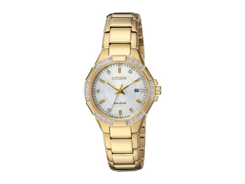シチズンウォッチ レディース 腕時計 アクセサリー EW2462-51A Eco-Drive Gold-Tone