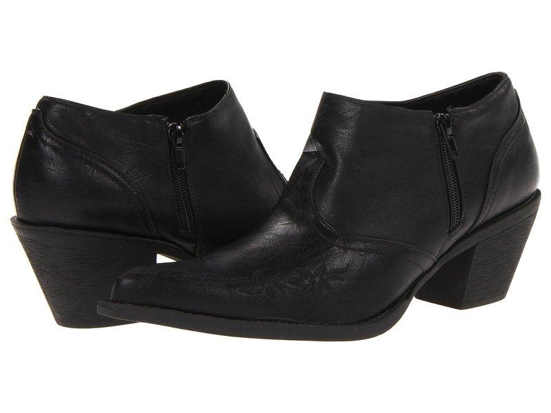 ローパー レディース ブーツ・レインブーツ シューズ Floral Embroidered Shoe Boot Black/Self Embroidery
