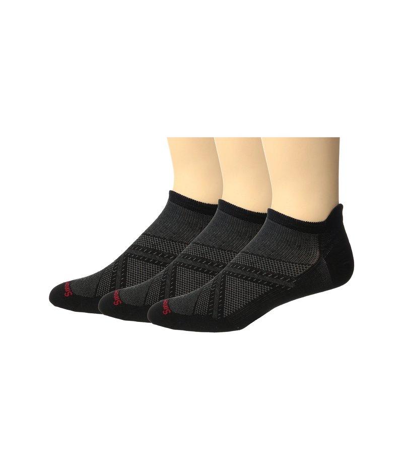 スマートウール メンズ 靴下 アンダーウェア PhD Run Ultra Micro 3-Pack Black/Black