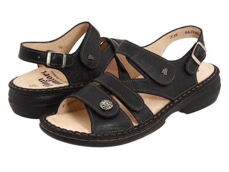フィンコンフォート レディース サンダル シューズ Gomera - 82562 Black Leather