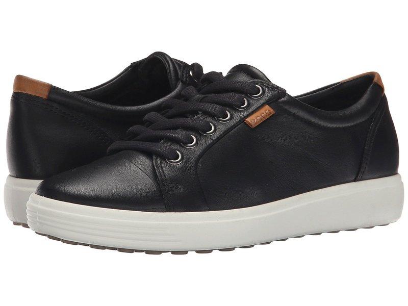 エコー レディース スニーカー シューズ Soft VII Sneaker Black/Black