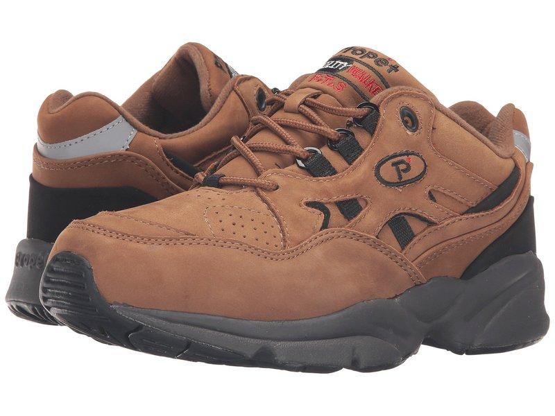 プロペット メンズ スニーカー シューズ Stability Walker Medicare/HCPCS Code = A5500 Diabetic Shoe Chocolate/Brown Nubuck