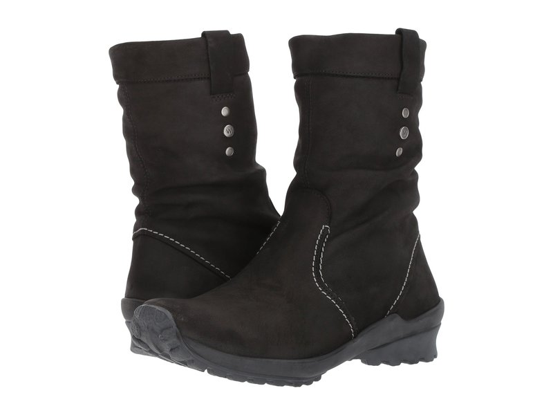 ウォルキー レディース ブーツ・レインブーツ シューズ Bryce Waterproof Black Nepal Oiled Leather