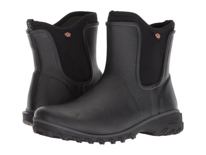 ボグス レディース ブーツ・レインブーツ シューズ Sauvie Solid Slip-On Boot Black
