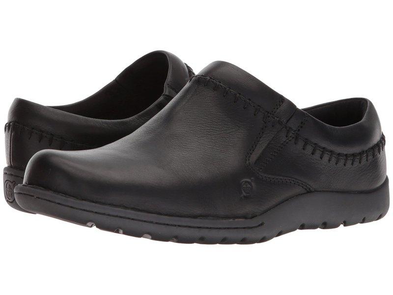 ボーン メンズ サンダル シューズ Nigel Clog Black Full Grain Leather
