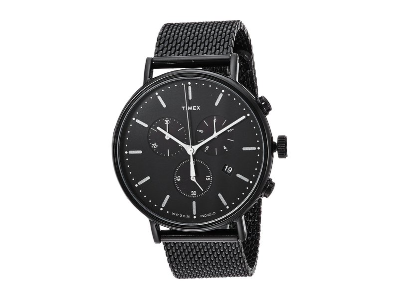 タイメックス メンズ 腕時計 アクセサリー Fairfield Chrono Mesh Black/Black
