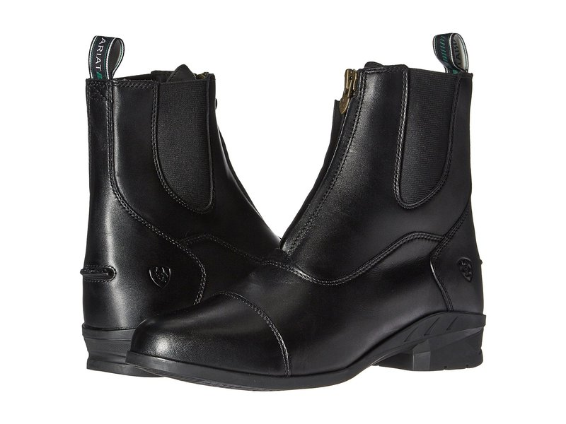 アリアト レディース ブーツ・レインブーツ シューズ Heritage IV Zip Paddock Black