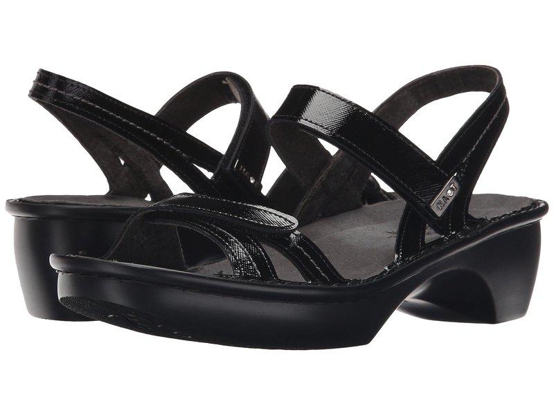 ナオト レディース サンダル シューズ Brussels Black Luster Leather