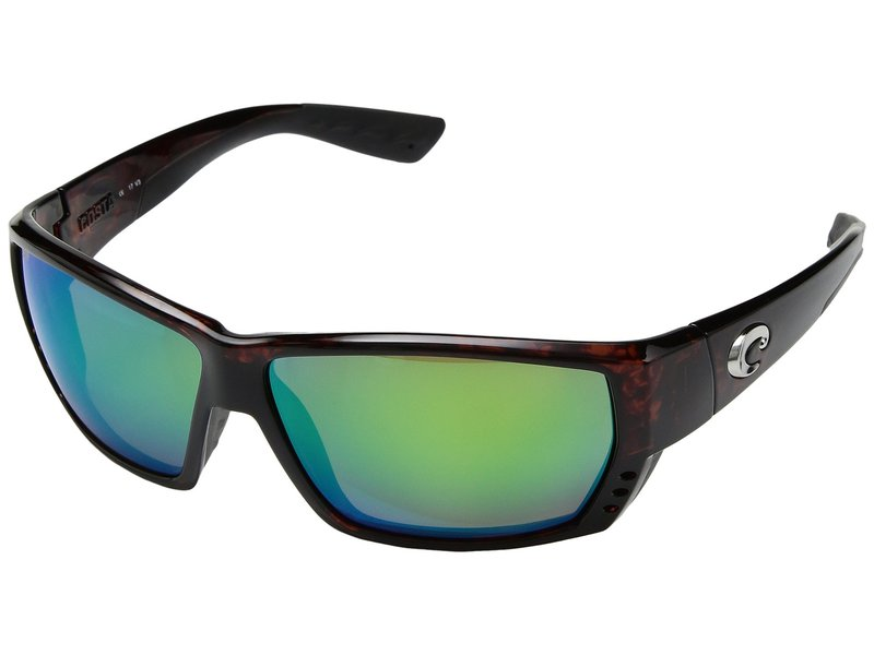 コスタ メンズ サングラス・アイウェア アクセサリー Tuna Alley Tortoise Frame/Green Mirror 580P