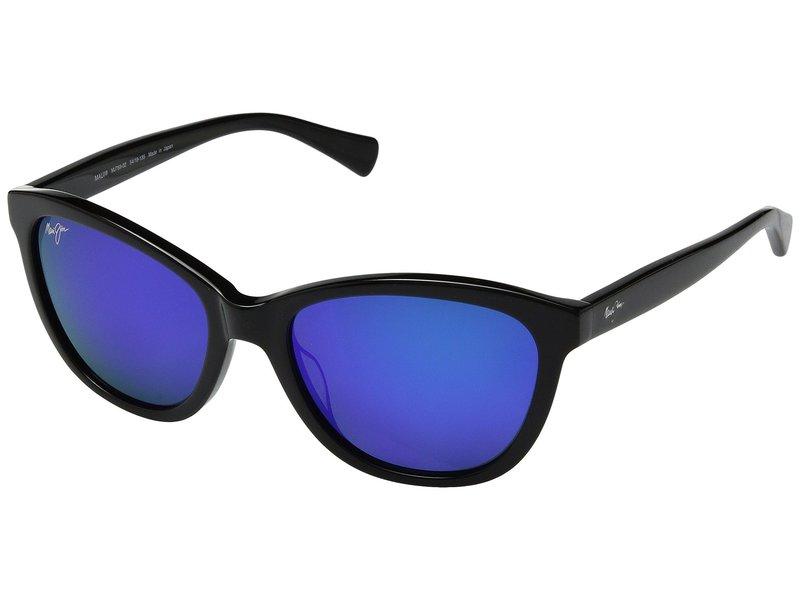 マウイジム レディース サングラス・アイウェア アクセサリー Canna Gloss Black/Blue Hawaii