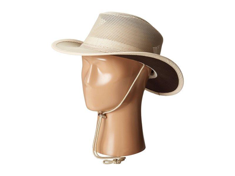 ステトソン メンズ 帽子 アクセサリー Mesh Covered Safari with Chin Cord Clay