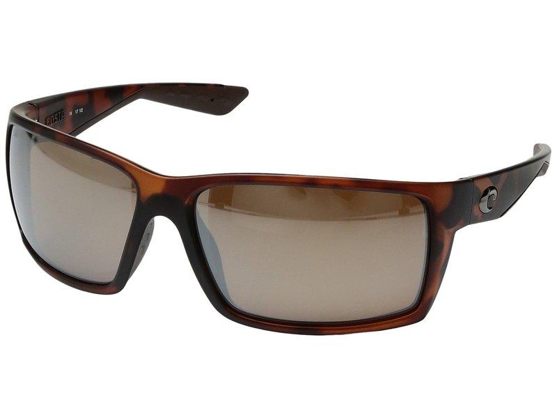 コスタ メンズ サングラス・アイウェア アクセサリー Reefton Matte Retro Tortoise Frame/Silver Mirror Glass W580