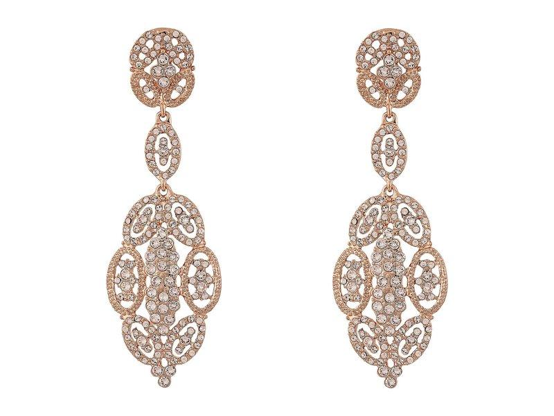 ニナ レディース ピアス・イヤリング アクセサリー Jules Glamorous Statement Swarovski Earrings Rose Gold/Silk