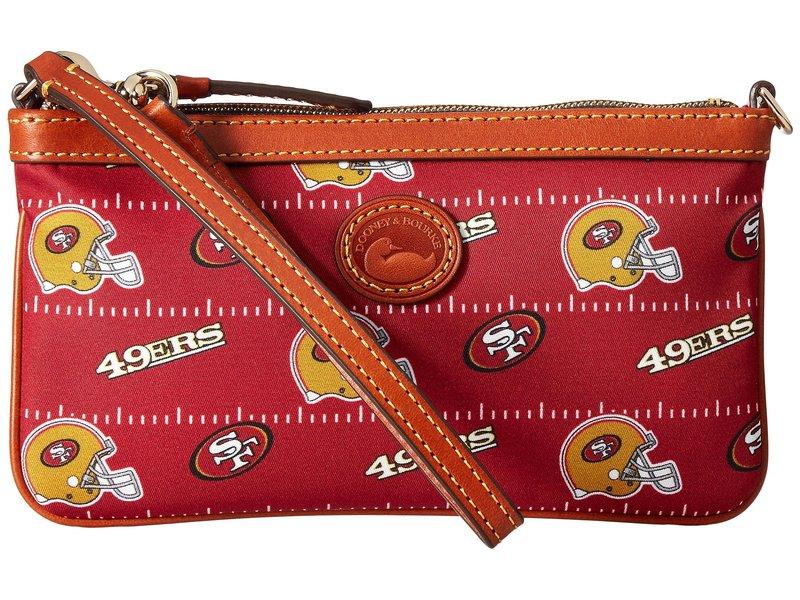 ドーネイアンドバーク レディース ハンドバッグ バッグ NFL Nylon Large Slim Wristlet Red/Tan/49Ers