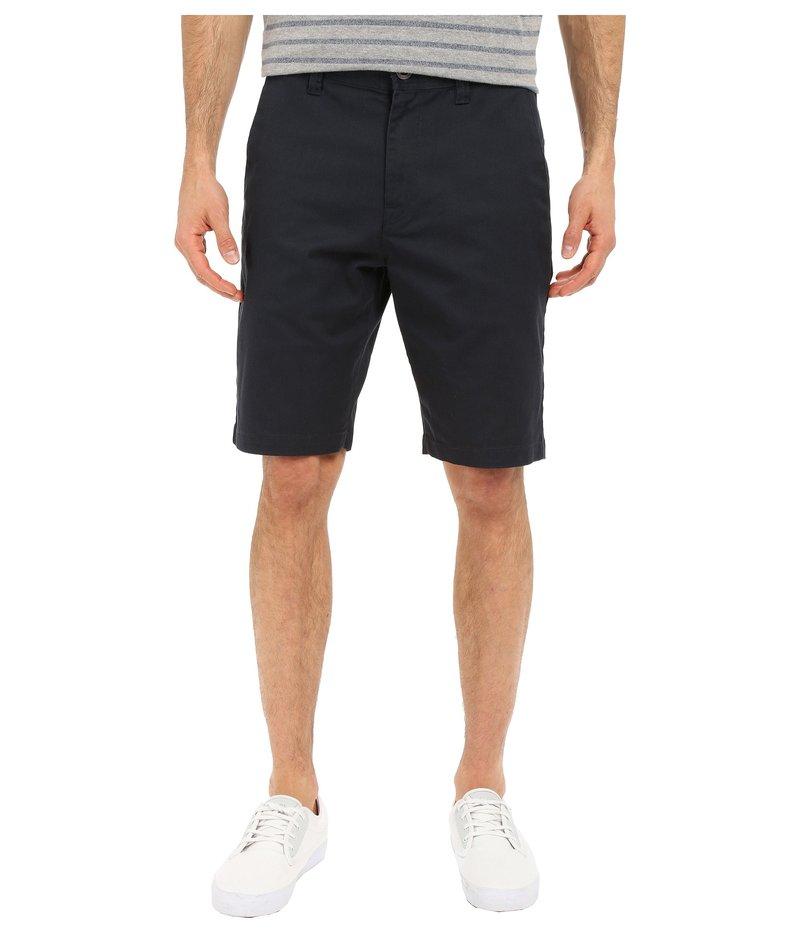 ボルコム メンズ ハーフパンツ・ショーツ ボトムス Frickin Modern Stretch Chino Shorts Dark Navy