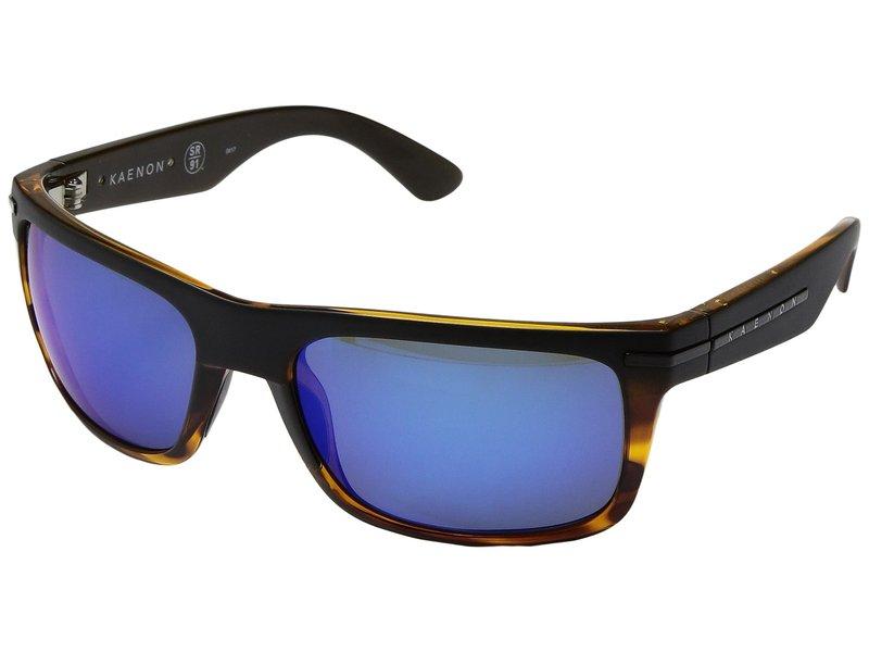 カエノン メンズ サングラス・アイウェア アクセサリー Burnet Matte Black/Tortoise/Pacific Blue Mirror