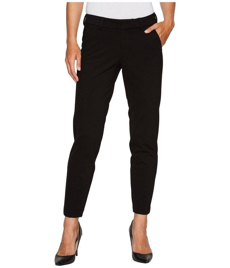 リバプール レディース カジュアルパンツ ボトムス Kelsey Slim Leg Trousers in Super Stretch Ponte Knit Black
