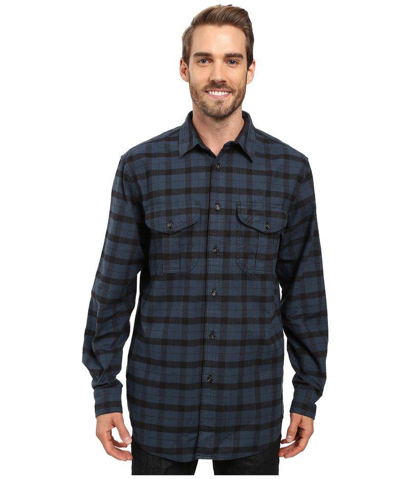 フィルソン メンズ シャツ トップス Extra Long Alaskan Guide Shirt Midnight Black