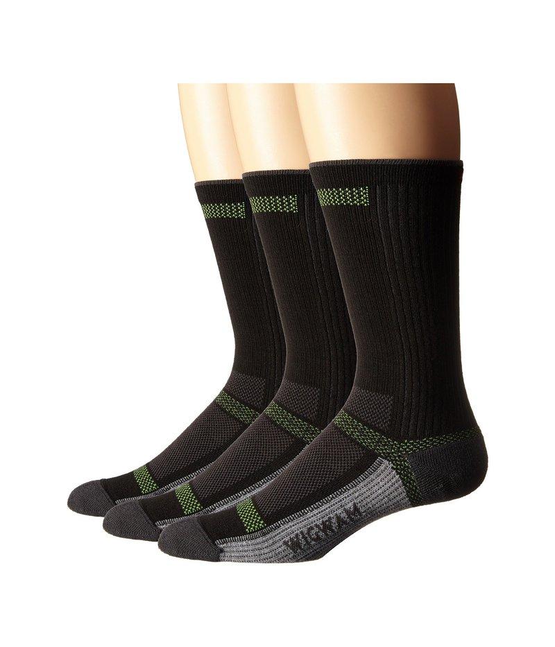ウィグワム メンズ 靴下 アンダーウェア Ultra Cool Lite Crew 3-Pack Black