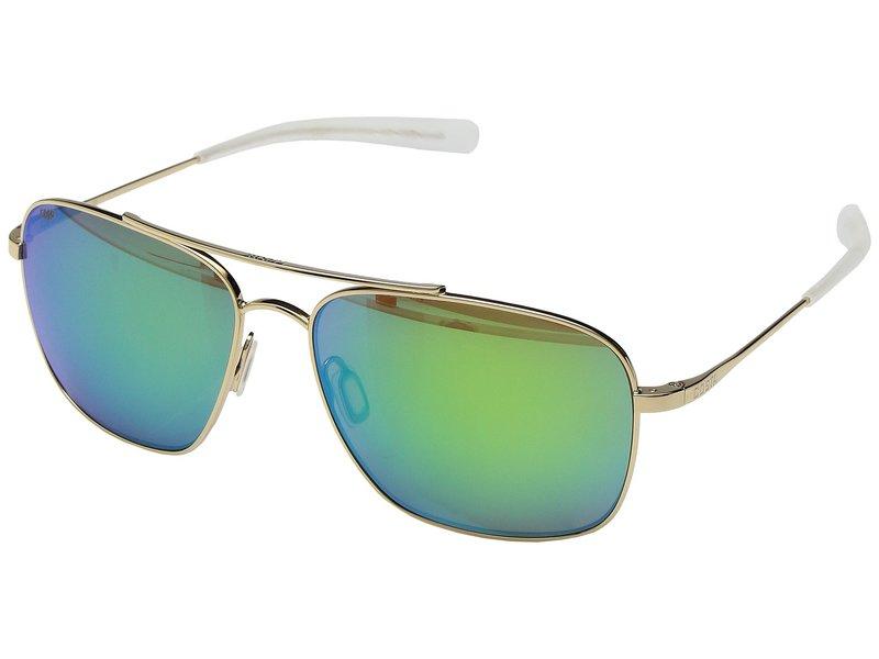 コスタ メンズ サングラス・アイウェア アクセサリー Canaveral Shiny Gold Frame/Green Mirror 580P