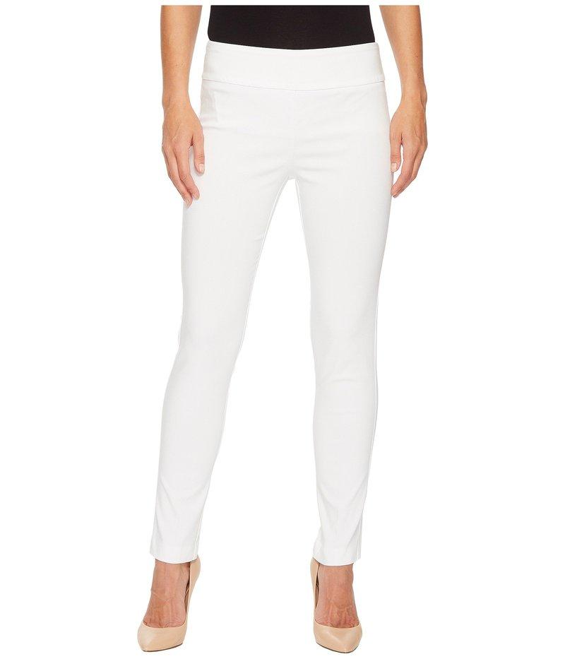 エリオットローレン レディース カジュアルパンツ ボトムス Control Stretch Pull-On Ankle Pants with Back Slit Detail White