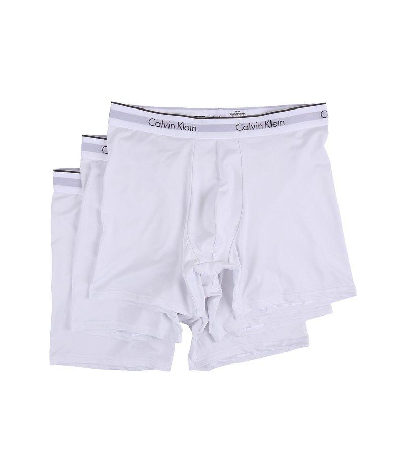 一番の カルバン Brief クライン アンダーウェア 3-Pack メンズ ブリーフパンツ Stretch アンダーウェア Micro Stretch 3-Pack Boxer Brief White, フィッシングマックス:2156b0f5 --- supercanaltv.zonalivresh.dominiotemporario.com