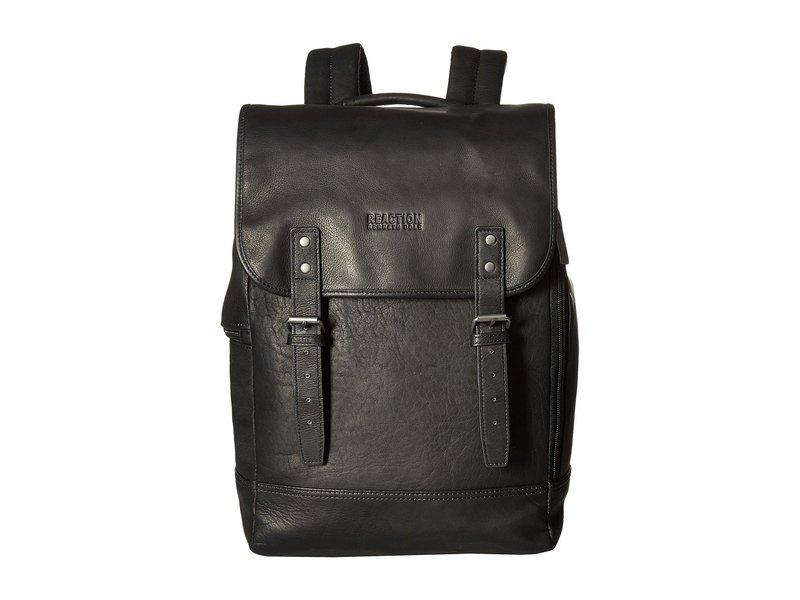 ケネスコール メンズ バックパック・リュックサック バッグ Colombian Leather - Computer Backpack Black