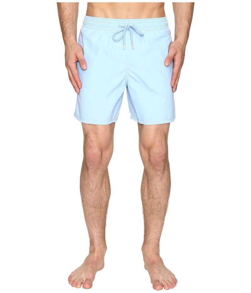 ヴィルブレクイン メンズ ハーフパンツ・ショーツ 水着 Moorea Classic Solid Swim Trunk Light Blue