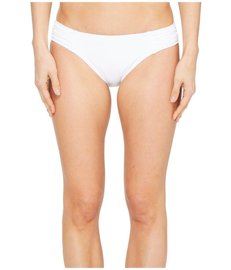 トッミーバハマ レディース ボトムのみ 水着 Pearl Side-Shirred Hipster Bikini Bottom White