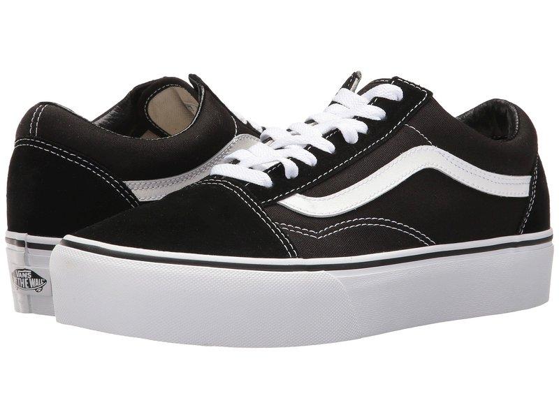 バンズ レディース スニーカー シューズ Old Skool Platform Black/White