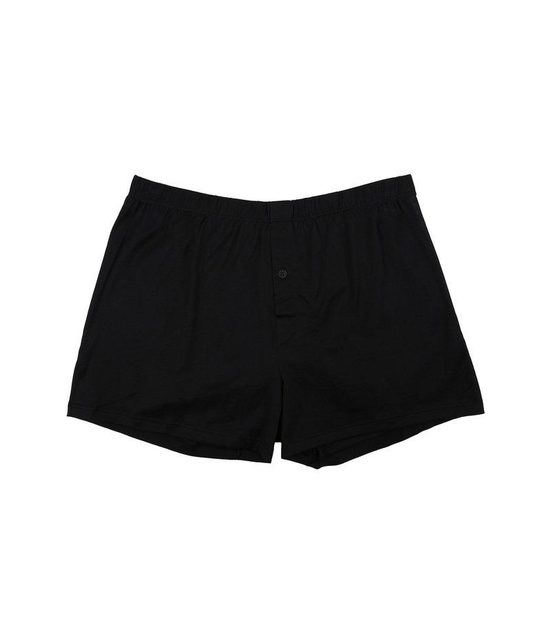 ハンロ メンズ ボクサーパンツ アンダーウェア Cotton Sporty Knit Boxer Black