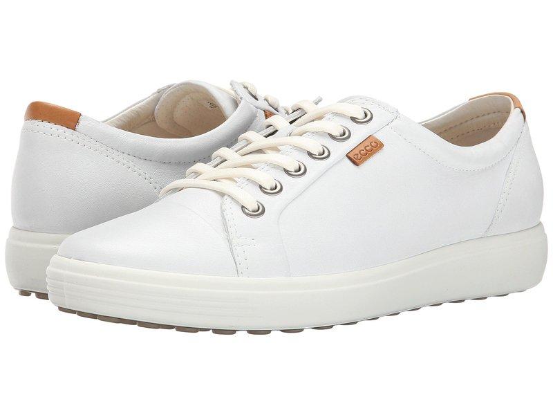 エコー レディース スニーカー シューズ Soft VII Sneaker White/White