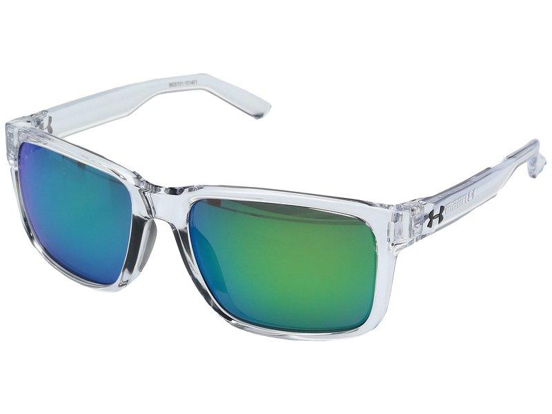 アンダーアーマー メンズ サングラス・アイウェア アクセサリー Assist Shiny Crystal Clear/Frosted Clear Frame/Gray/Green Multiflection